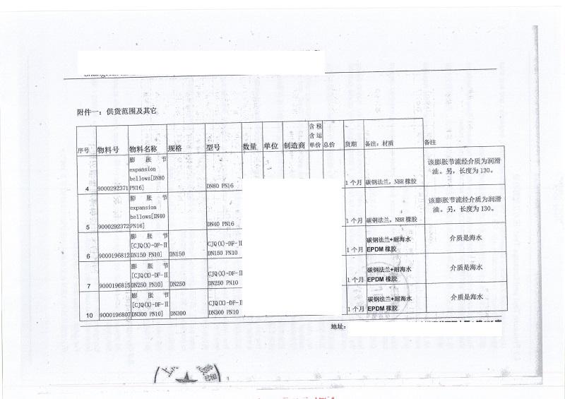 【昌江黎族自治区海南核电项目】橡胶膨胀节合同